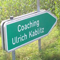 Coaching-Kablitz-Schild